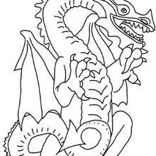 Desenho de um Dragão para colorir
