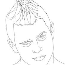 Desenho de um lutador The Miz para colorir
