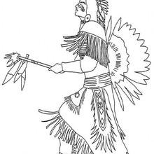 Desenho do chefe indígena para colorir