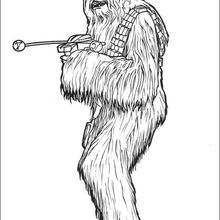 Desenho do Chewbacca para colorir