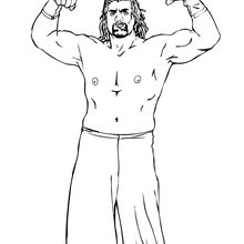 Desenho do Great Khali, lutador indiano de wrestling para colorir