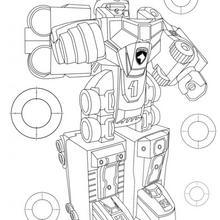 Desenho do Robô que se transforma dos Power Rangers