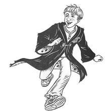 Desenho do Ron Weasley para colorir