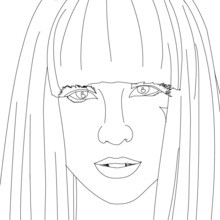 Desenhos Para Colorir De O Rosto Da Lady Gaga Para Colorir Pt