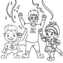 Desenho para colorir de fantasias de CARNAVAL para CRIANÇAS