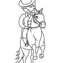 Desenho de um menino a Cavalo para colorir online