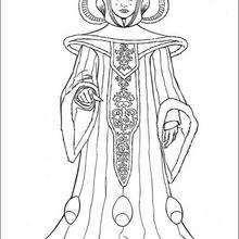 Desenho da Rainha Amidala para colorir