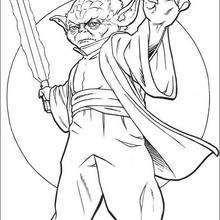 Yoda com uma espada