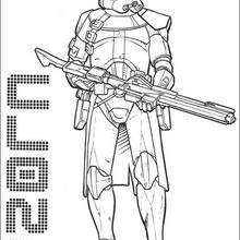 O soldado clone com uma arma