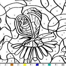 Colorindo a borboleta pelos números