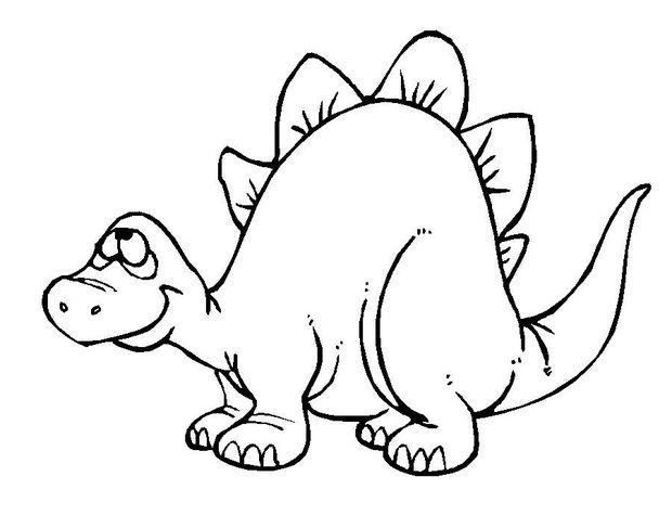 desenho de um macaquinho para colorir desenho de um beb estegossauro para colorir