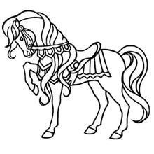 Desenho de um belo cavalo  para colorir