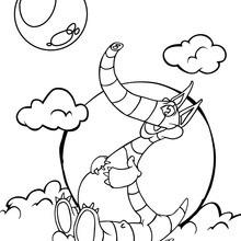 Desenho de um Dinossauro gordinho para colorir