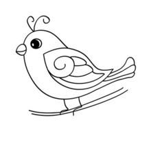Desenho de um passarinho fofo para colorir