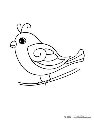 desenhos para colorir de desenho de um passarinho fofo para colorir