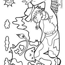 Desenho de um Pastor para colorir