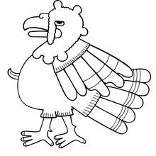 Desenho de um peru para colorir