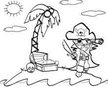 Desenho de um pirata para colorir