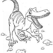 Desenho de um Tiranossauro correndo para colorir
