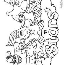 Desenho de uma estrela marinha para colorir