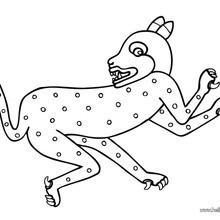 Desenho de uma Jaguatirica para colorir