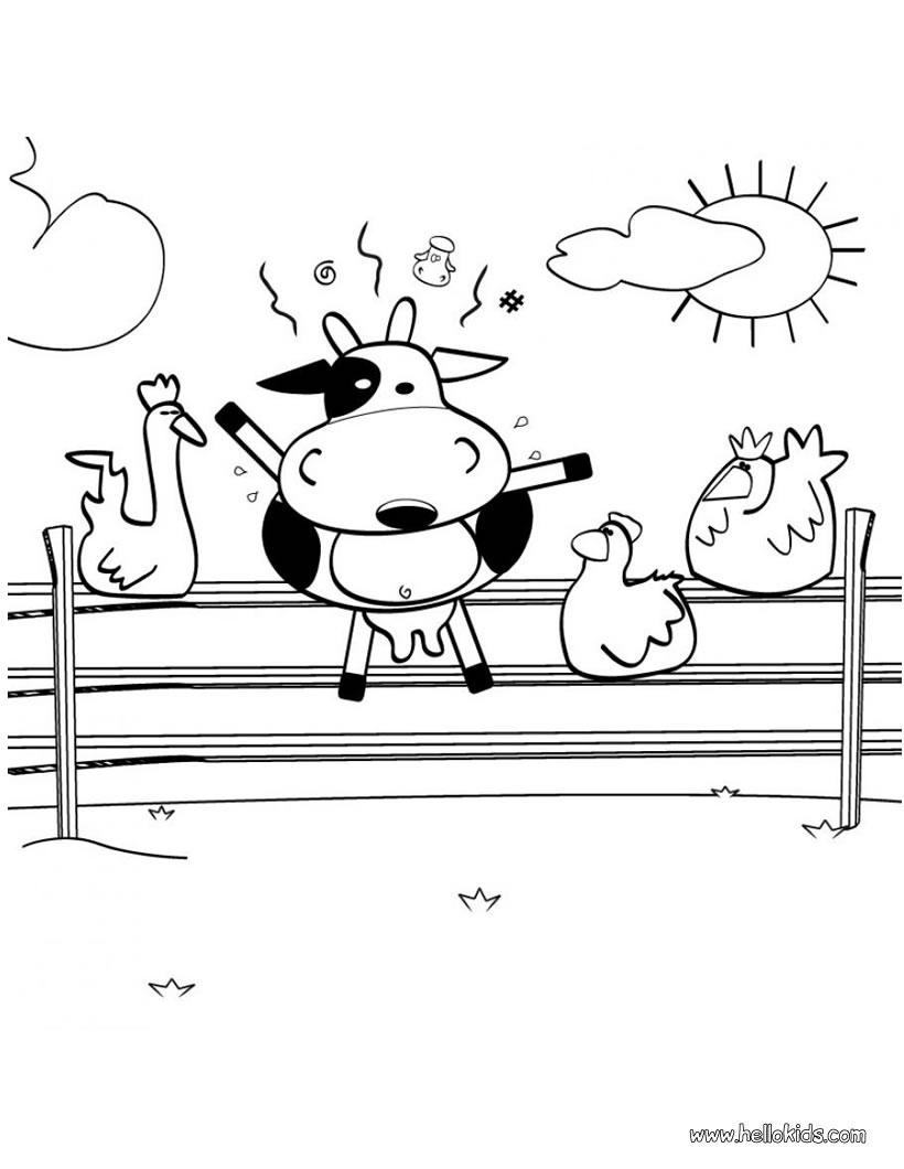 Desenhos Para Colorir De Desenho De Uma Vaca Maluca Para Colorir