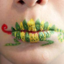 Maquiagem em lábios: camaleão