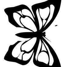 Desenho de uma Borboleta-monarca para colorir