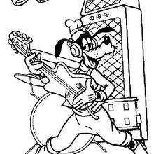 O Pateta tocando violão