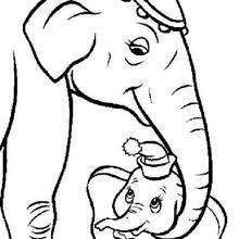 Dumbo com sua mãe