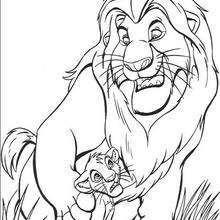 Desenhos Para Colorir De Mufasa O Rei Leao E O Simba Pt