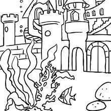 Desenho do reino das sereias para colorir online