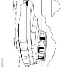 Desenho de um barco salva-vidas para colorir
