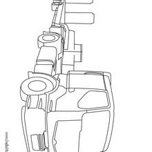 Desenho de um Caminhão pesado para colorir