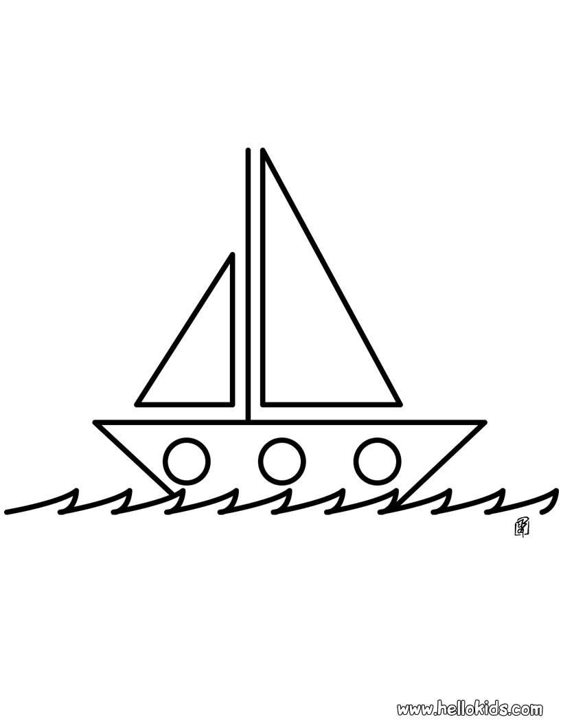 Desenhos Para Colorir De Desenho De Um Veleiro No Mar Agitado Para