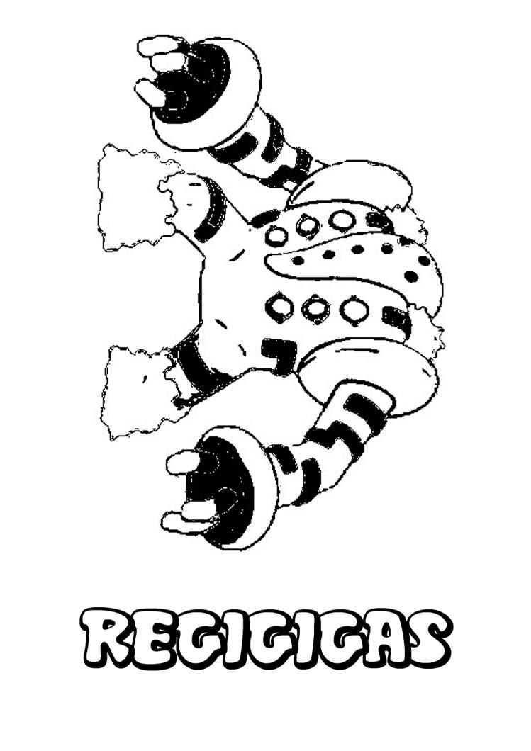 desenhos para colorir de desenho do pokémon regigigas para colorir