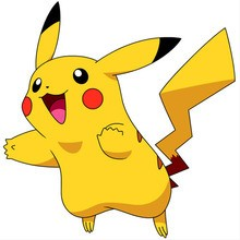 Desenho do Pokémon Pikachu feliz  para colorir