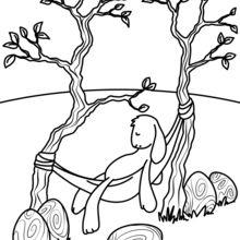 Coelhinho da Páscoa dormindo