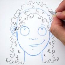 Desenhe um penteado: os cabelos encaracolados