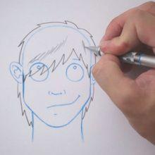 Desenhe um penteado: Emo