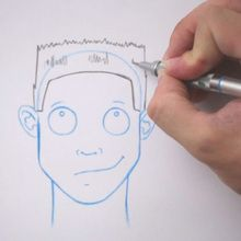 Desenhe um penteado: Escova