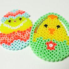 Ovos de Páscoa Em pérolas ser passado a ferro