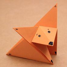 A raposa origami