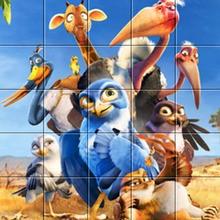 Os personagens de aves estranhas filme