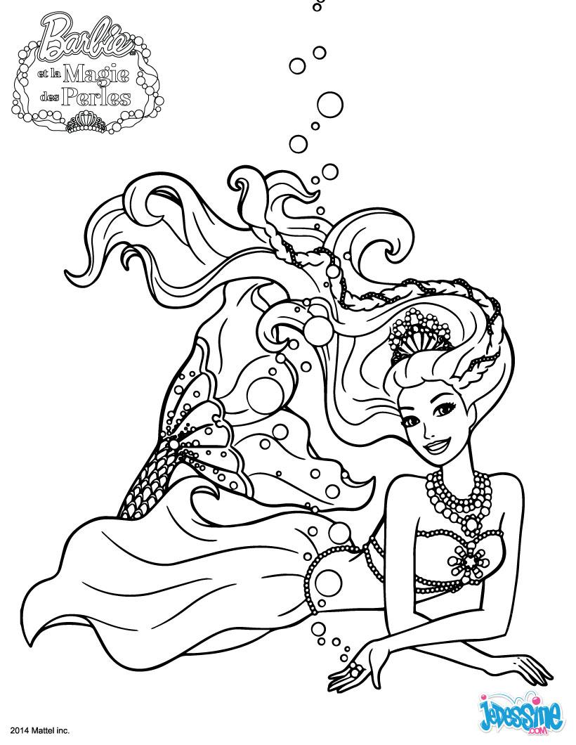 Coloriage Sirène Barbie