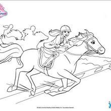 Barbie e seu galope do cavalo
