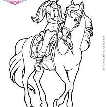 Barbie em seu cavalo