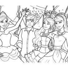Barbie, Ken e suas amigas fadas para colorir