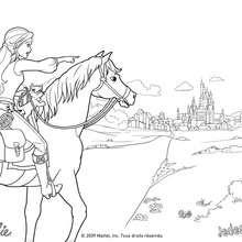 Cavalo Corinne Coloring arredores de Paris