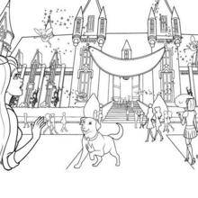 Escola de Princesas Colorir